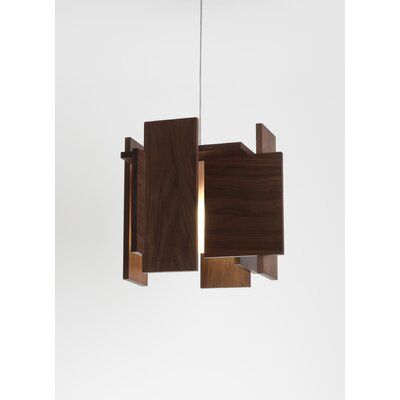 Abeo L 1-Light Foyer Pendant Finish: Oiled Walnut, Canopy: Low Profile