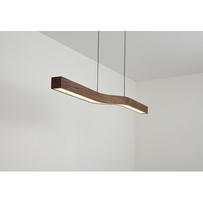 Camur LED Kitchen Island Pendant Finish: Dark Stained Walnut