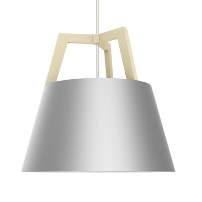 Imber LED Pendant Size: 17 H x 17.75 W, Finish: Maple/Brushed Aluminum