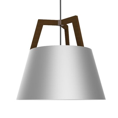 Imber LED Pendant Size: 17 H x 17.75 W, Finish: Oiled Walnut/Brushed Aluminum