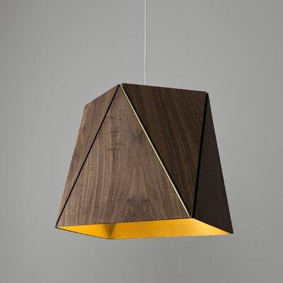 Calx 1-Light LED Geometric Pendant Finish: Oiled Walnut/Brushed Brass