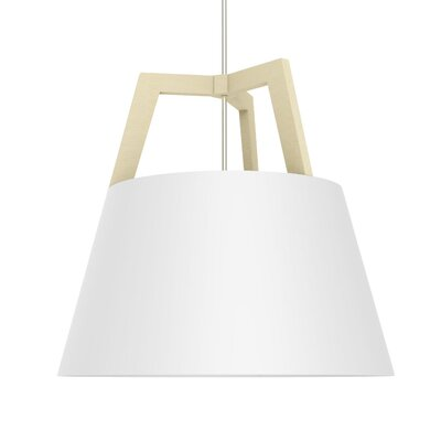 Imber 1-Light LED Inverted Pendant Finish: Maple/Gloss White, Size: 17 H x 17.75 W
