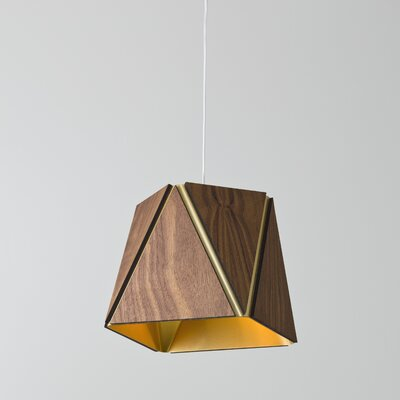 Calx 1-Light LED Inverted Pendant Finish: Oiled Walnut/Brushed Brass