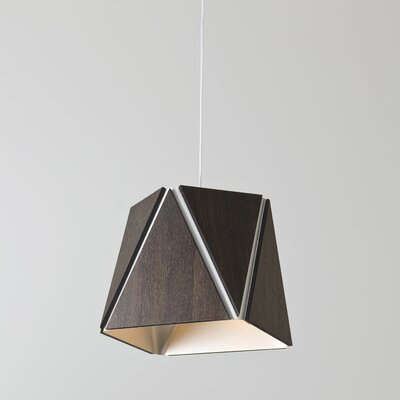 Calx 1-Light LED Inverted Pendant Finish: Dark Stained Walnut/Rose Gold