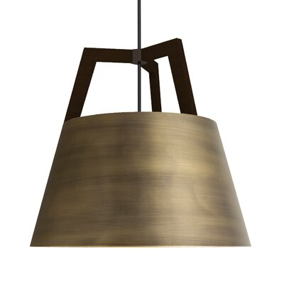Imber 1-Light Inverted Pendant Finish: Oiled Walnut/Distressed Brass