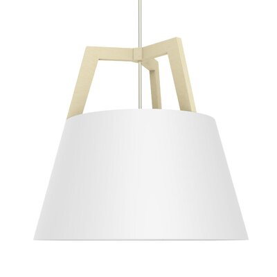 Imber 1-Light Inverted Pendant Finish: Maple/Gloss White