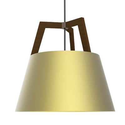 Imber 1-Light Inverted Pendant Finish: Oiled Walnut/Brushed Brass
