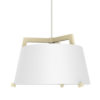 Ignis 1-Light LED Drum Pendant Finish: Maple/Gloss White, Size: 14.75 H x 24 W