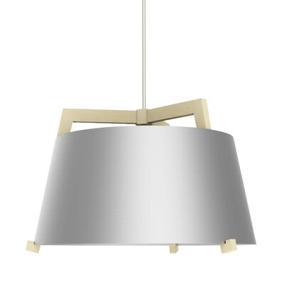Ignis 1-Light LED Drum Pendant Finish: Maple/Brushed Aluminum, Size: 14.75 H x 24 W