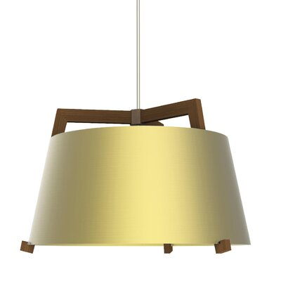 Ignis 1-Light Inverted Pendant Finish: Oiled Walnut/Brushed Brass