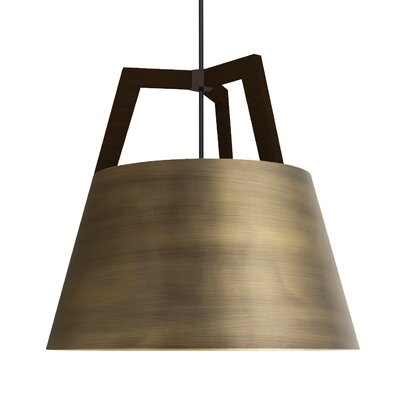 Imber 3-Light Inverted Pendant Finish: Dark Stained Walnut/Distressed Brass
