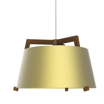 Ignis 3-Light Pendant Finish: Oiled Walnut/Brushed Brass