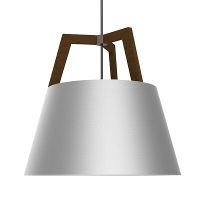 Imber 3-Light Pendant Finish: Oiled Walnut/Brushed Aluminum