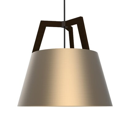 Imber 3-Light Inverted Pendant Finish: Dark Stained Walnut/Rose Gold