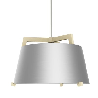 Ignis 3-Light Inverted Pendant Finish: Maple/Brushed Aluminum