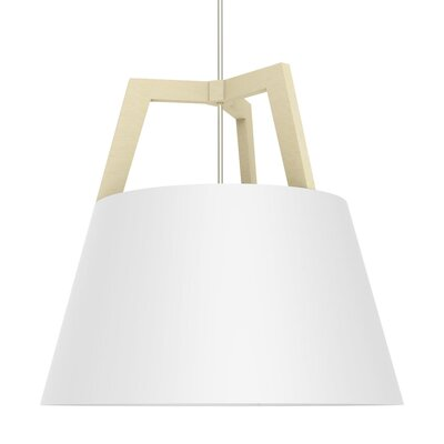 Imber 3-Light Pendant Finish: Maple/Gloss White