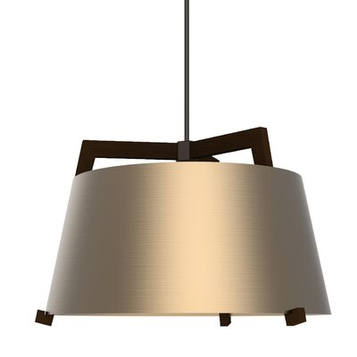 Ignis 1-Light Mini Pendant Finish: Dark Stained Walnut/Rose Gold