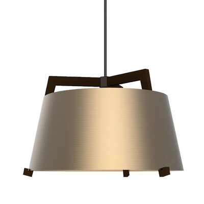 Ignis 3-Light Inverted Pendant Finish: Dark Stained Walnut/Rose Gold