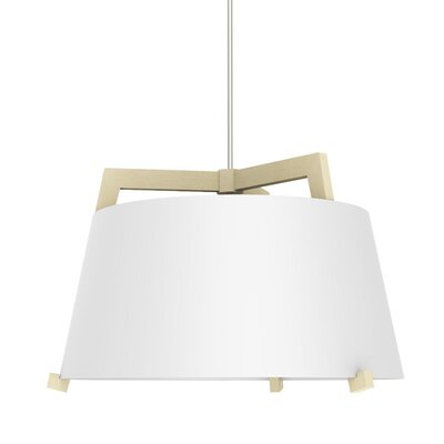 Ignis 3-Light Inverted Pendant Finish: Maple/Gloss White