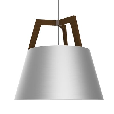 Imber 1-Light Inverted Pendant Finish: Oiled Walnut/Brushed Aluminum