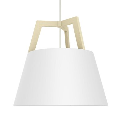 Imber 1-Light Mini Pendant Finish: Maple/Gloss White