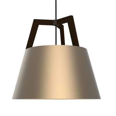 Imber 1-Light Inverted Pendant Finish: Dark Stained Walnut/Rose Gold