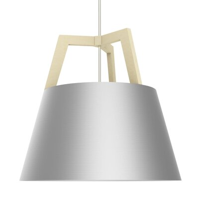 Imber 1-Light Inverted Pendant Finish: Maple/Brushed Aluminum