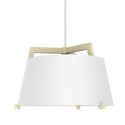 Ignis 3-Light Drum Pendant Finish: Maple/Gloss White