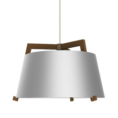 Ignis 3-Light Drum Pendant Finish: Oiled Walnut/Brushed Aluminum