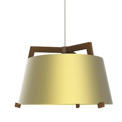 Ignis 3-Light Drum Pendant Finish: Oiled Walnut/Brushed Brass