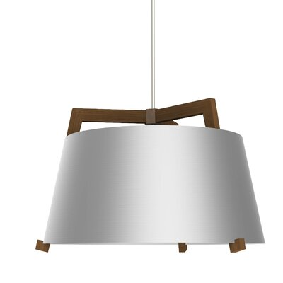 Ignis 1-Light Inverted Pendant Finish: Oiled Walnut/Brushed Aluminum