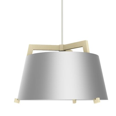 Ignis 1-Light LED Inverted Pendant Finish: Maple/Brushed Aluminum, Size: 14.75 H x 24 W