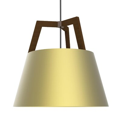 Imber 3-Light Pendant Finish: Oiled Walnut/Brushed Brass