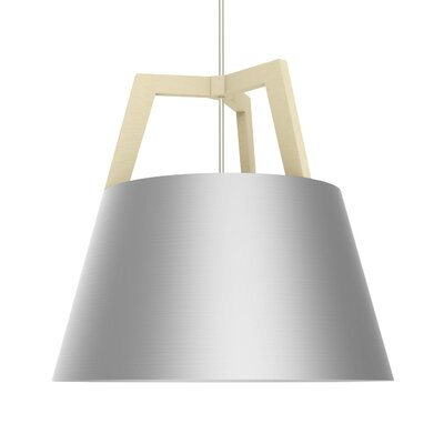 Imber 1-Light LED Geometric Pendant Finish: Maple/Brushed Aluminum, Size: 22 H x 24 W