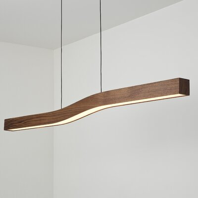 Camur LED Kitchen Island Pendant Finish: Oiled Walnut