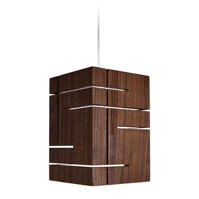 Claudo 1-Light Mini Pendant Wood Finish: Dark Stained Walnut