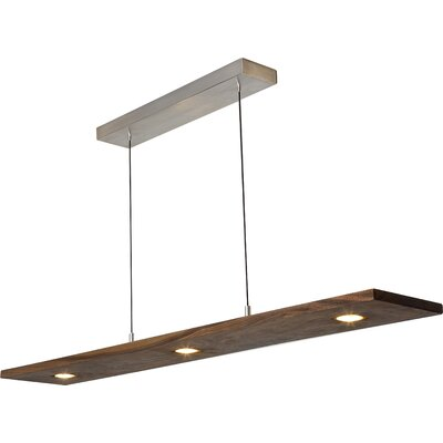 Vix 5-Light Kitchen Island Pendant Finish: Oiled Walnut, Size: 34