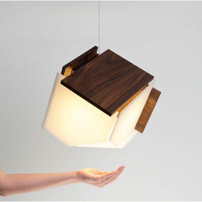 Mica L 1-Light Geometric Pendant Finish: Walnut
