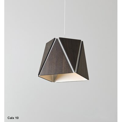 Calx 19 1-Light Geometric Pendant Finish: Brushed Aluminum/Walnut