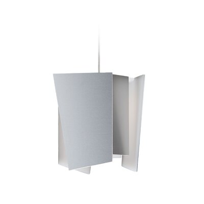 Levis 1-Light LED Pendant Shade: Brushed Aluminum