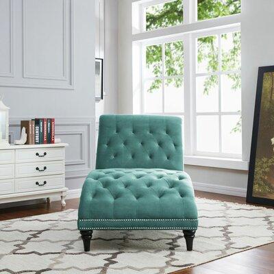 Cordella Chaise Lounge Upholstery: Velvet Turquoise Blue