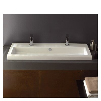 40 Ceramic Self Rimming Bathroom Sink