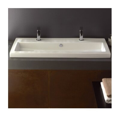 Series 40 Ceramic Rectangular Drop-in Bathroom Sink