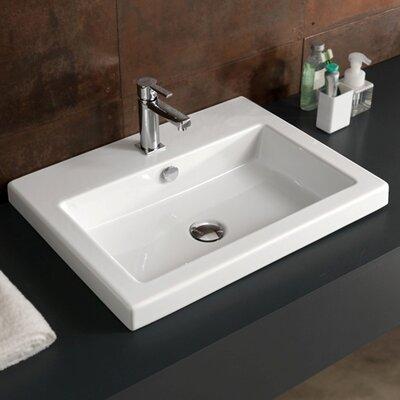 Ceramic 24 Wall Mount Bathroom Sink