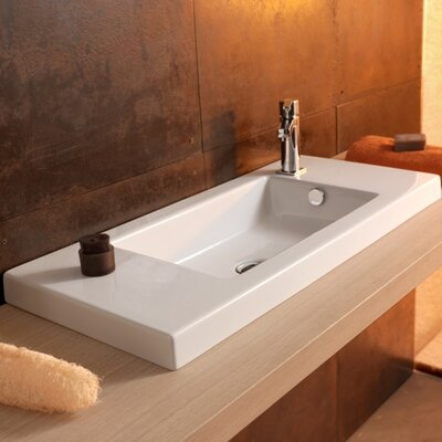 Ceramic 32 Wall mountedBathroom Sink