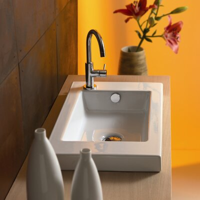 Serie 35 Ceramic Self Rimming Bathroom Sink