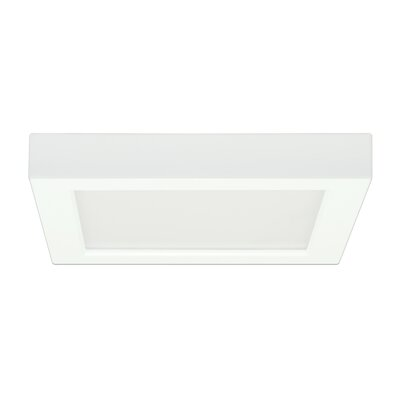 Tower 1-Light 3000K Flush Mount Size: 1.57 H x 9.65 W x 7.8 D
