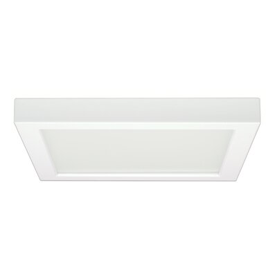 Tower 1-Light 3000K Glass Shade Flush Mount Size: 1.57 H x 12.01 W x 9.76 D