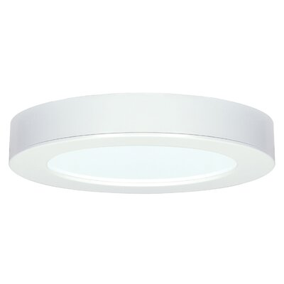 Barrette 1-Light Flush Mount Finish: White