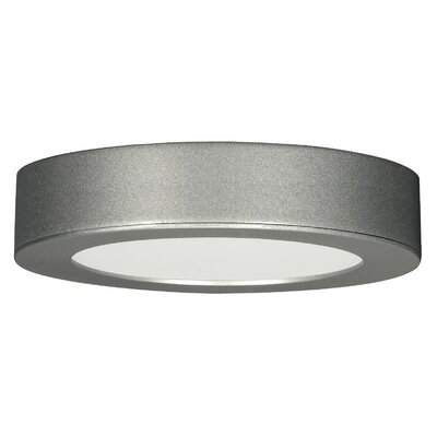 Barrette 1-Light Flush Mount Finish: Satin Nickel